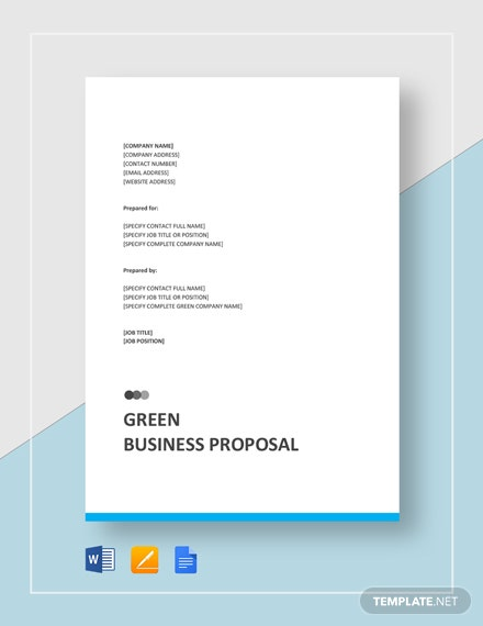 Green Business Proposal Template