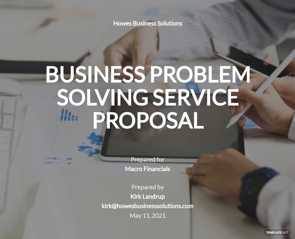 Business Problem Solving Proposal Template.jpe