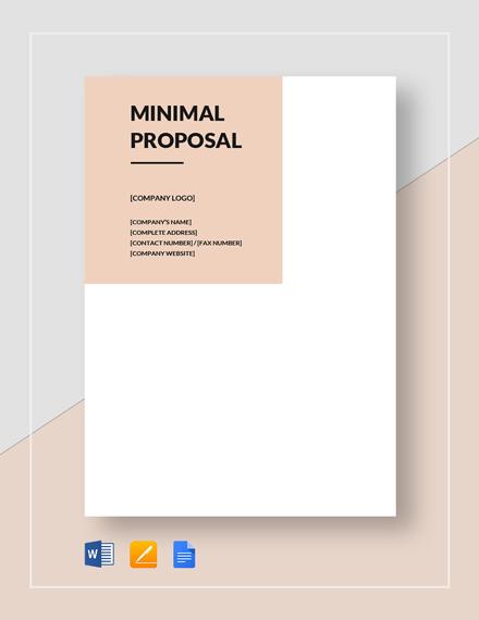 Minimal Proposal Template