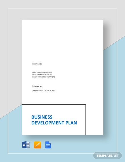Business Development Plan Template