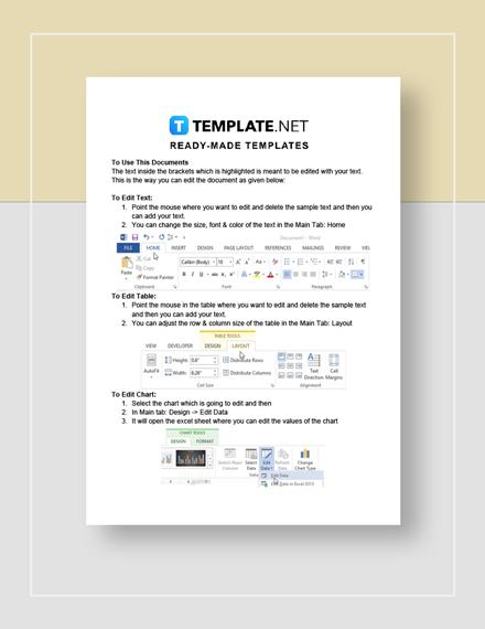 Financial Plan Instructions