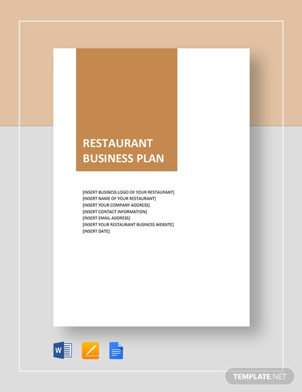 Restaurant Business Plan Template 21 Word Excel Pdf