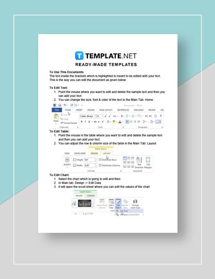 Sample Sales Plan Instructions