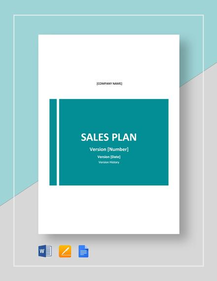 Sample Sales Plan Template