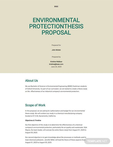 Editable Thesis Proposal Template