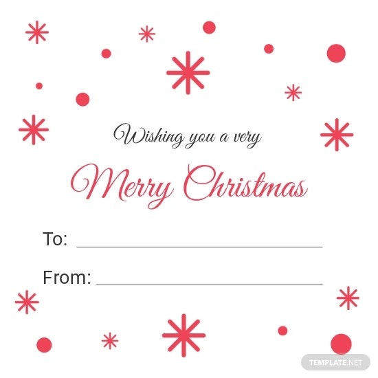 Christmas Return Gift Label Template.jpe