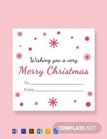 Free Christmas Return Gift Label Template
