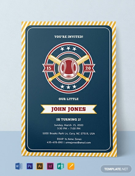 Free Baseball Invitation Template