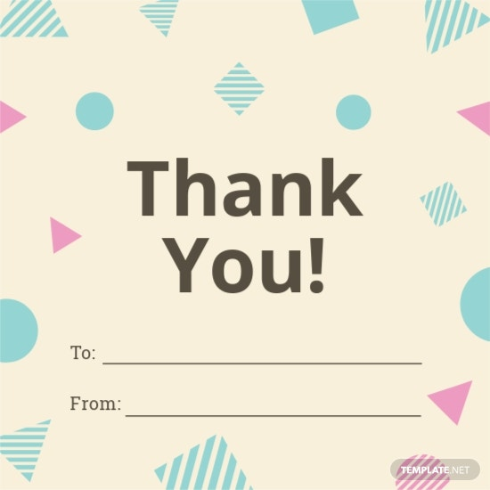 Thank You Gift Label Template