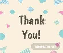 Free Thank You Gift Label Template