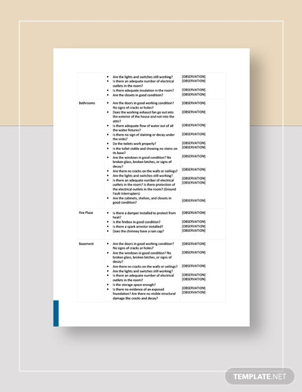 Home Inspection Checklist Download