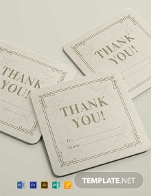 Free Vintage Gift Label Template