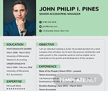Free Banking Resume for Experienced Template