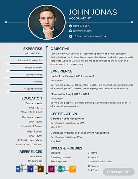 93 Free Photo Resume Templates Word Psd Indesign