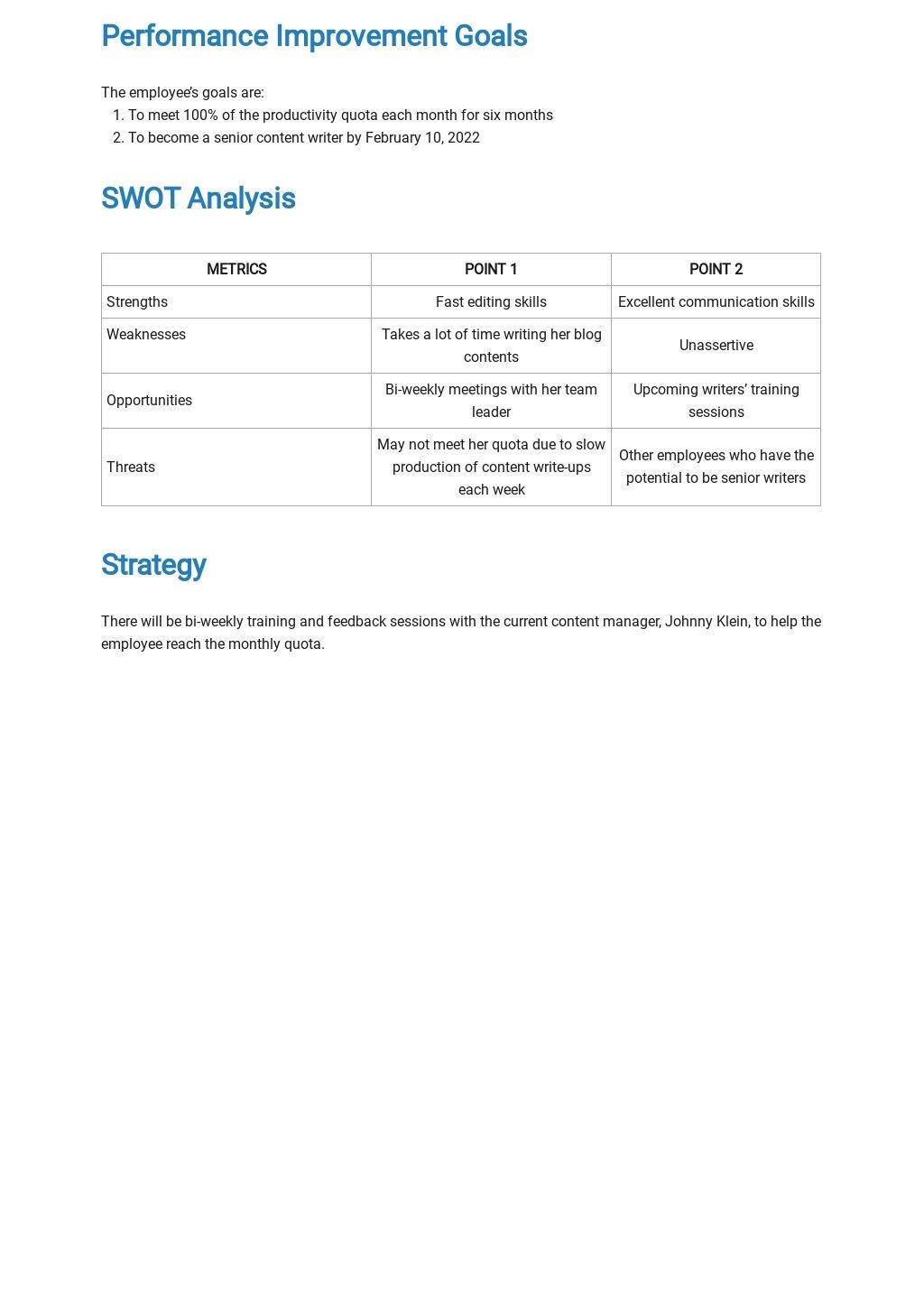Sample Performance Improvement Plan Template 1.jpe