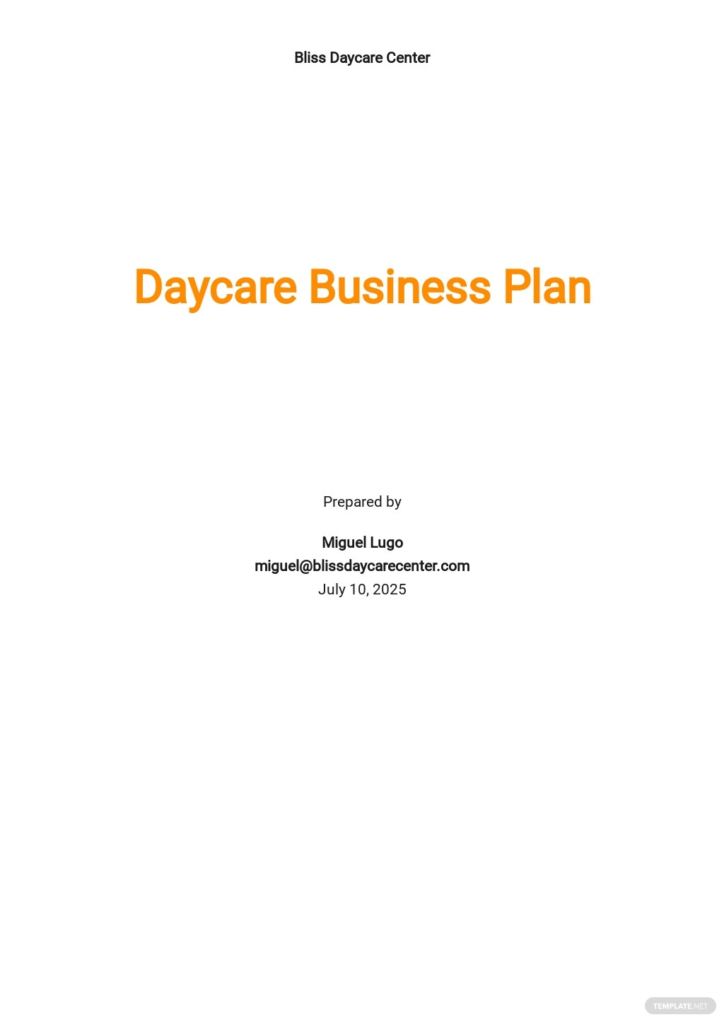 Daycare Business Plan Template.jpe