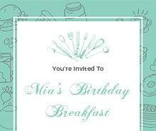 Free Birthday Breakfast Invitation Template