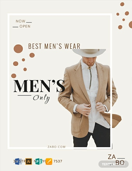 Free Men's Wear Flyer Template