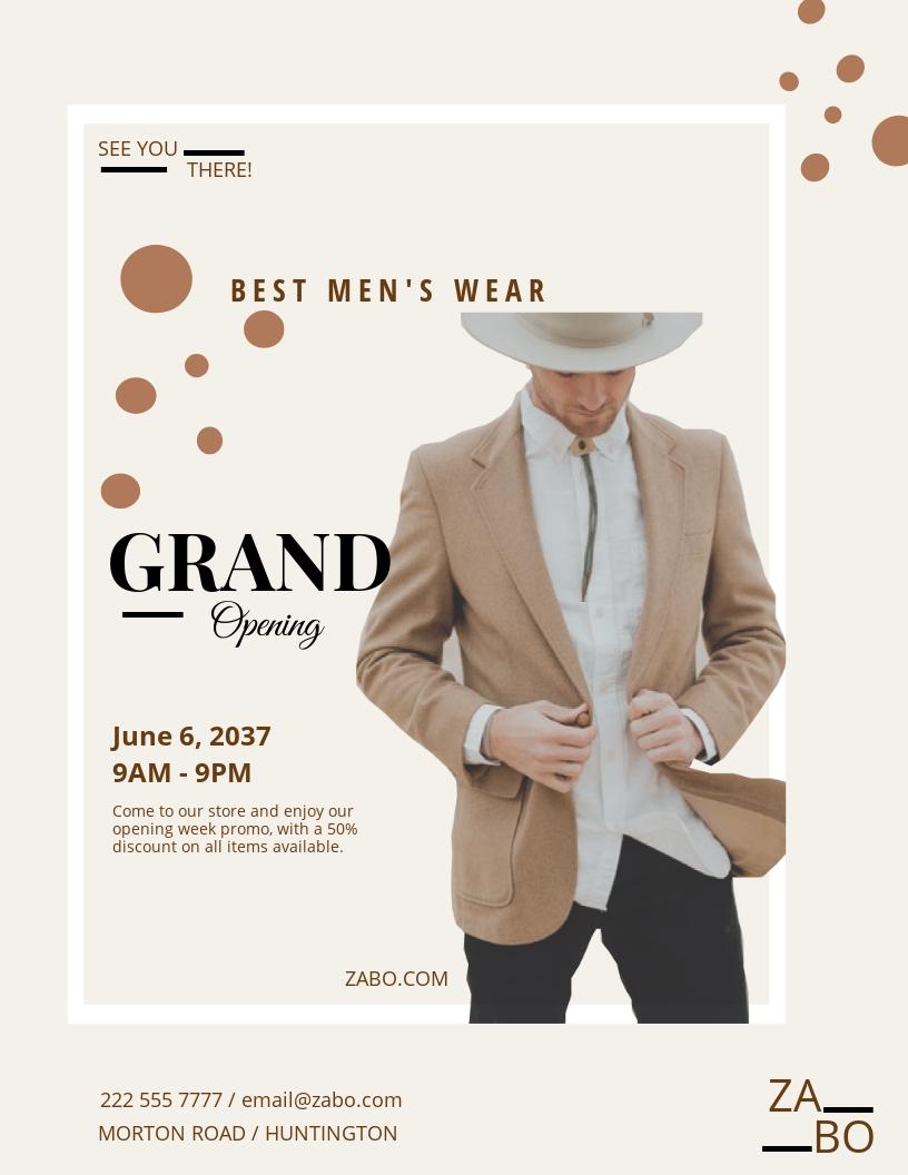 Men's Wear Flyer Template