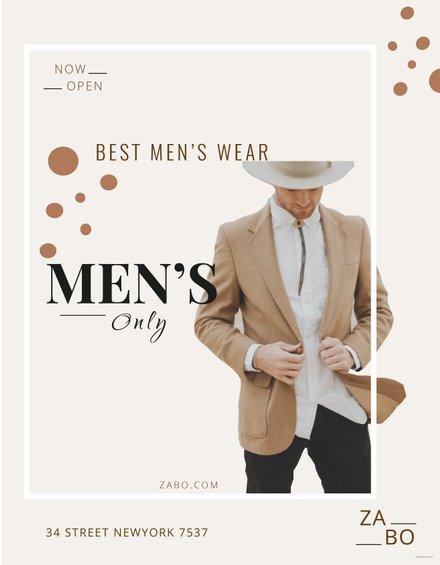 Free Men's Wear Flyer Template