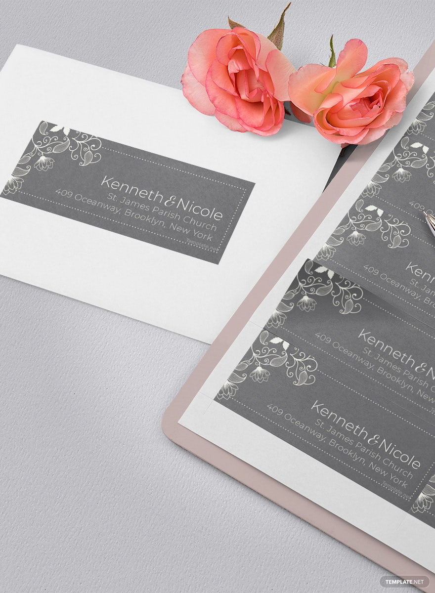 Free Wedding Address Label Template