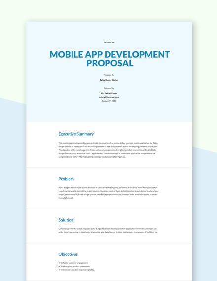 Editable Mobile App Development Proposal Template