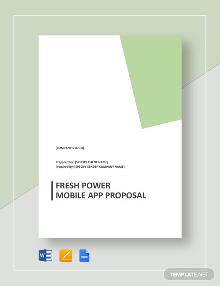 Fresh Power Mobile App Proposal Template