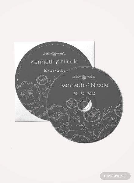 Free Wedding CD Label Template