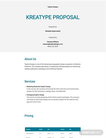 Kreatype Proposal Template