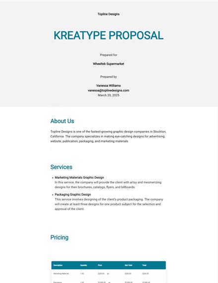 Editable Kreatype Proposal Template
