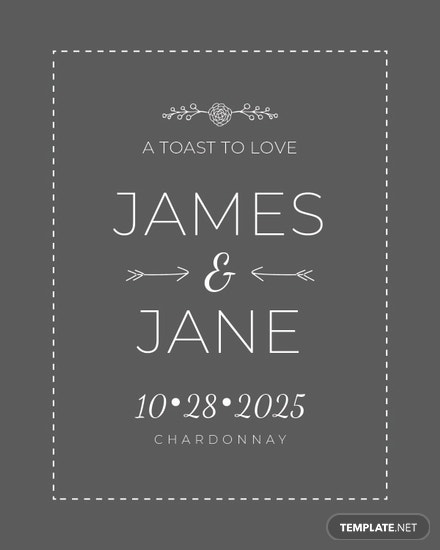 Free Wedding Champagne Bottle Label Template In Microsoft Word - Champagne label template