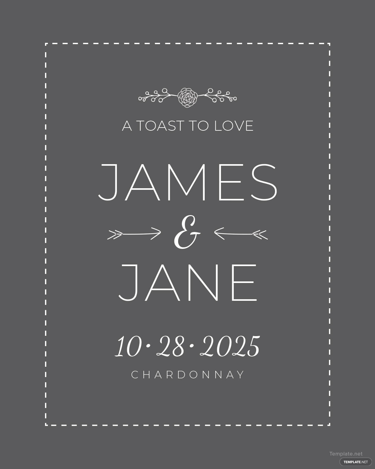 Free Wedding Champagne Bottle Label Template in Microsoft Word ...