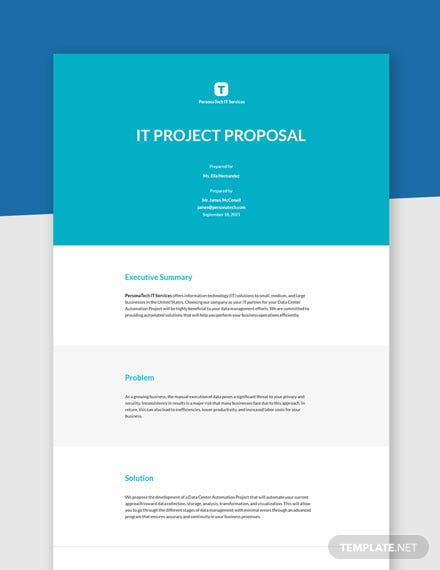 IT Project Proposal Template