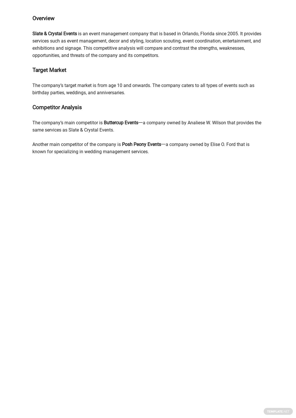 Sample Competitive Analysis Template 1.jpe