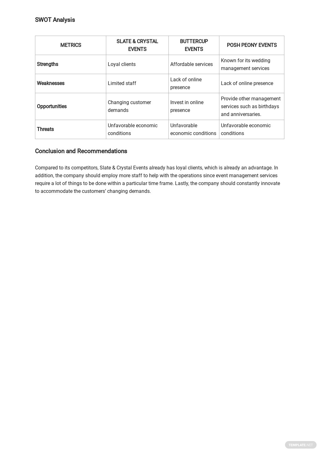 Sample Competitive Analysis Template 2.jpe