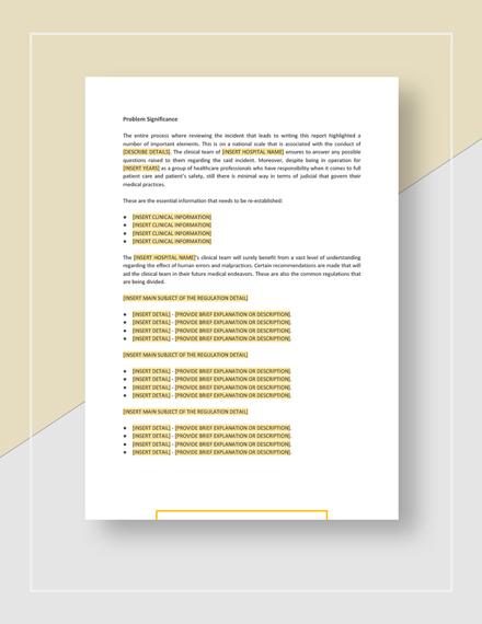 Root Cause Analysis Sample