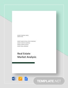 Real Estate Market Analysis Template