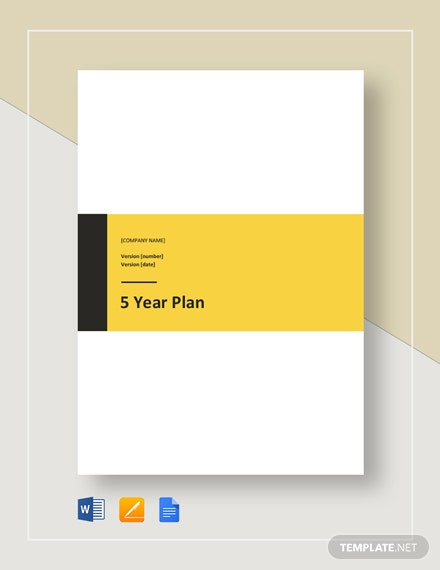 5 Year Plan Template