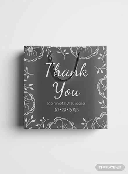 Free Wedding Gift Bag Label Template