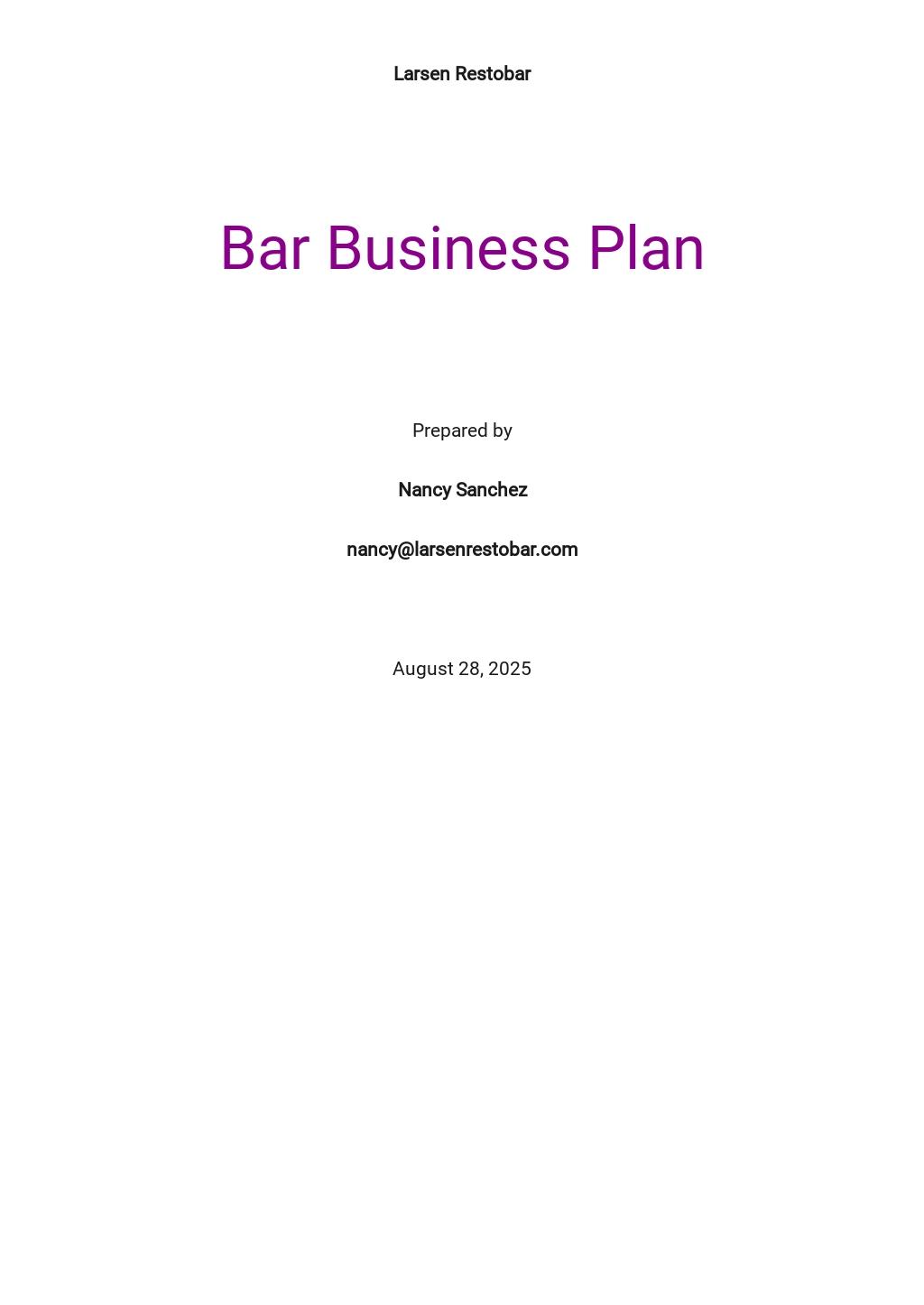 Bar Business Plan Template.jpe