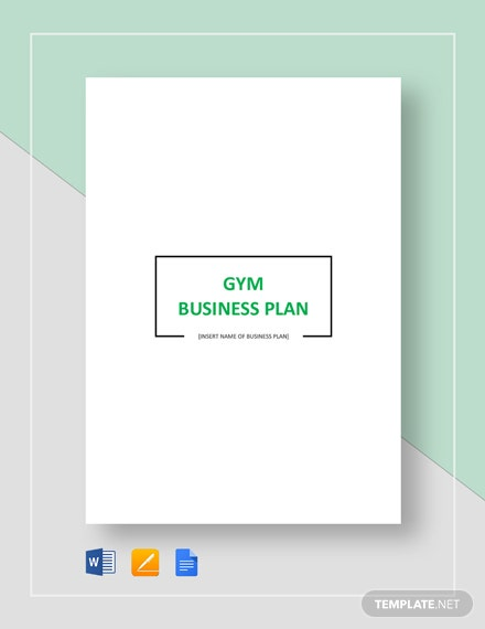 Gym Business Plan Template
