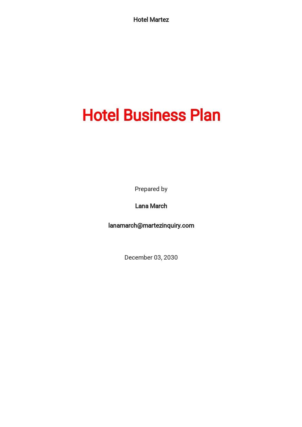 Hotel Business Plan Template.jpe