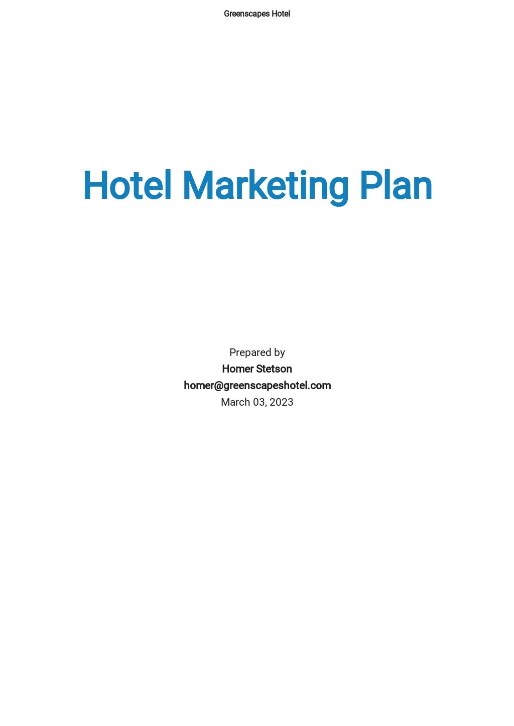 Hotel Marketing Plan Template.jpe