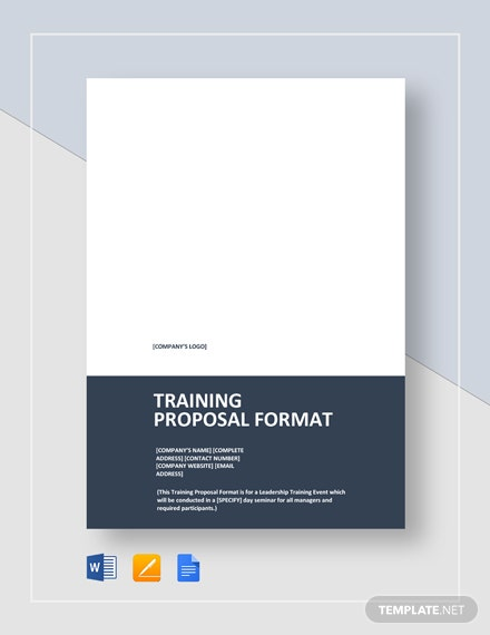 Training Proposal Format Template