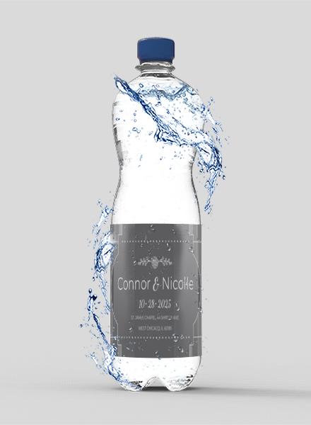 Free Wedding Water Bottle Label Template