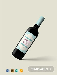 Free Wedding Wine Bottle Label Template