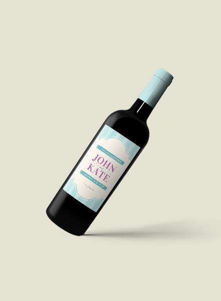 Free Wedding Wine Bottle Label Template