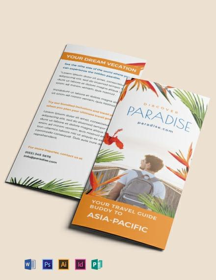 Free Travel Tri-Fold Brochure Template