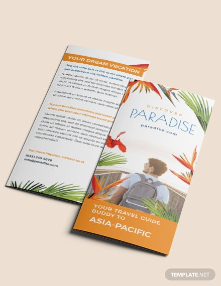 Free Travel Tri Fold Brochure Template