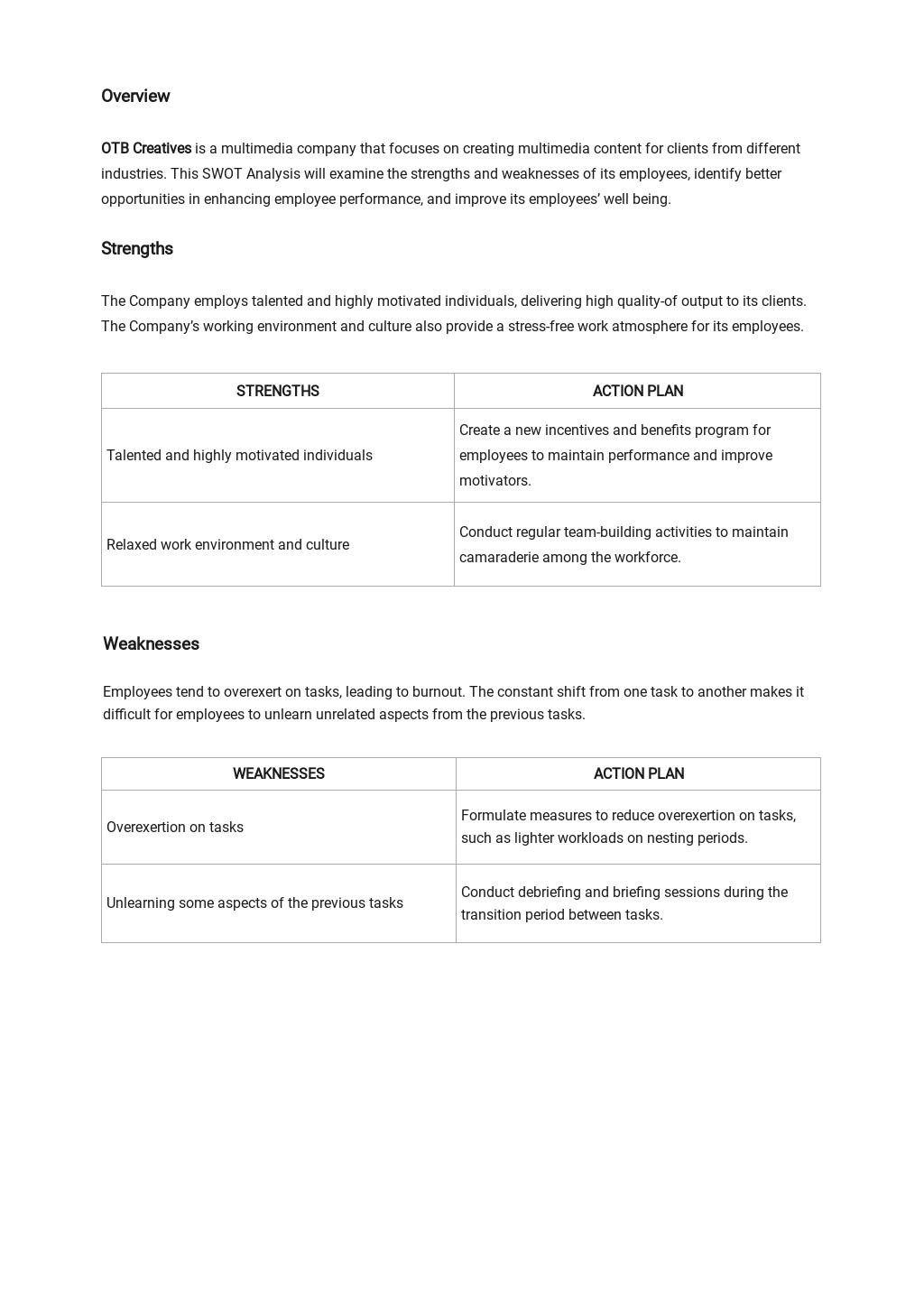 Sample Employee SWOT Analysis Template 1.jpe